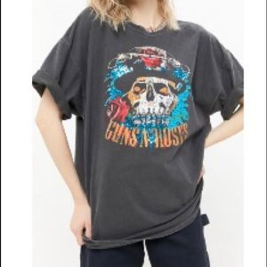 Guns N' Roses sequins oversized tee size M NWT